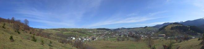 Breed panorama van platteland Stock Afbeelding