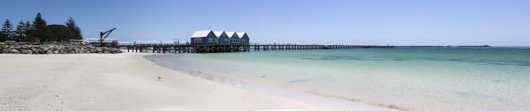 Breed Toneelpanorama van Busselton-Pier West-Australië Stock Fotografie
