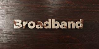 Breedband - grungy houten krantekop op Esdoorn - 3D teruggegeven royalty vrij voorraadbeeld vector illustratie