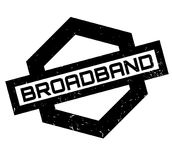 Breedband rubberzegel vector illustratie