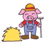 Breeder pig happy cartoon design kids. Vector illustration stock illustration