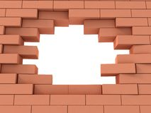 Breek de muurachtergrond vector illustratie