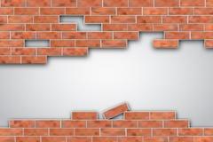 Breek een bakstenen muur royalty-vrije illustratie