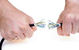 Breek kabel Stock Foto's