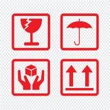Breekbaar de Illustratieontwerp van het pictogramsymbool Royalty-vrije Stock Afbeeldingen