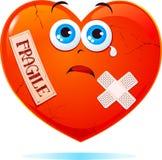 Breekbaar hart vector illustratie