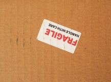 Breekbaar teken Royalty-vrije Stock Foto's