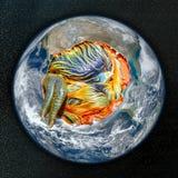 Breekbare Aarde milieusamenvatting Stock Fotografie