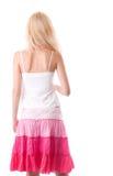 Breekbare jonge vrouwenrug Stock Fotografie