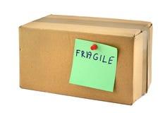 Breekbare kartondoos Stock Foto's