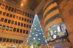 Breeze Taipei Station Christmas tree Taiwan stock photos