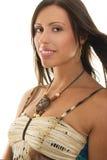 Breezy Brunette royalty free stock photos