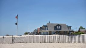 Breezy point homes queens new york oceanfront private beach. There is oceanfront homes of Breezy Point, which is a neighborhood in the New York City borough of royalty free stock photos