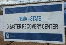FEMA opens disaster recovery center in devastated area in the aftermath of Hurricane Sandy Stock Photo