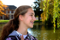 Breezy teenager Royalty Free Stock Images