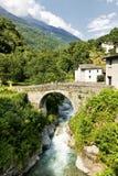 Bregaglia (Graubunden, Switzerland): old village. Breagaglia (Grigioni, Graubunden, Switzerland): historic village on the road to Maloja Stock Images