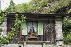 Bregaglia Graubunden, Switzerland: old village. Bregaglia Grigioni, Graubunden, Switzerland: historic village on the road to Maloja Stock Photo
