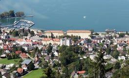 Bregenz in Oostenrijk op Bodensee Stock Afbeelding