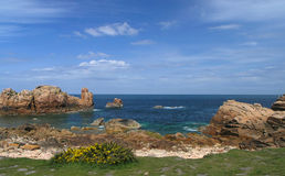 Brehat island in brittany Royalty Free Stock Photos