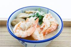 Brei addieren Garnelen, Pilze, Pfeffer, Lebensmittel Thailand, Thailand Res Stockfoto