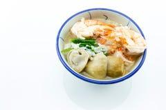 Brei addieren Garnelen, Pilze, Pfeffer, Lebensmittel Thailand, Thailand Res Stockfotos