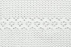 Brei witte textuur, crochet stock fotografie