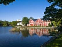 Breiavatnet, het belangrijkste Meer van Stavanger Royalty-vrije Stock Afbeeldingen