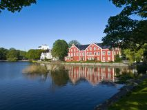 Breiavatnet, the main Stavanger Lake. Stavanger has several beautiful lakes, which are popular recreation areas. Breiavatnet is located in the heart of Stavanger Royalty Free Stock Images