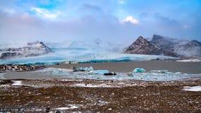 Breidamerkurjokullgletsjer in IJsland stock foto
