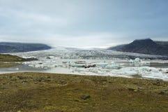 breidarlon冰川冰岛 库存图片