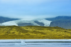 breidarlon冰川冰岛 免版税库存照片