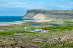 Breidavik village Stock Photos
