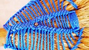 Breiend patroon van garen stock fotografie