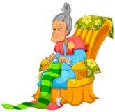 Breiende dame royalty-vrije illustratie