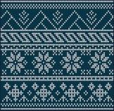 Breiende patroonsweater Stock Foto
