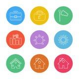 breifcase, деньги, фунт, дом, экологичность, солнце, облако, дождь иллюстрация вектора