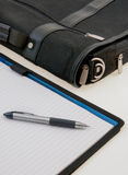 Breifcase and Notepad Stock Photography