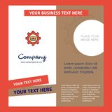 Breifcase setting Company Brochure Template. Vector Busienss Template. This Vector EPS 10 illustration is best for print media, web design, application design royalty free illustration