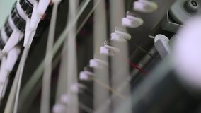 Breigoedfabriek stock footage