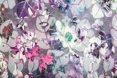 Breigoedstof met bloemen abstract patroon Royalty-vrije Stock Foto