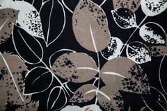 Breigoedstof met bloemen abstract patroon Royalty-vrije Stock Fotografie