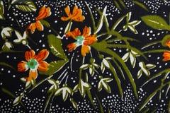Breigoedstof met bloemen kleurrijk abstract patroon Stock Foto's