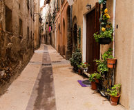 Breil-sur-Roya, Provence - a typical narrow street Royalty Free Stock Images