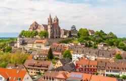 Breisach镇-巴登-符腾堡州,德国看法  图库摄影