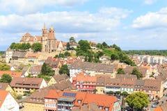 Breisach в Германии на крае Рейна Стоковые Фото