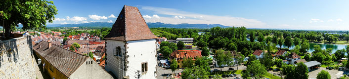 Breisach bird-fly view from the hill Royalty Free Stock Photos