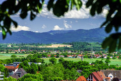 Breisach bird-fly view from the hill Stock Images
