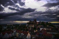 Breisach morgens Rhein am frühen Abend Stockbilder