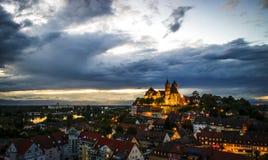 Breisach morgens Rhein am frühen Abend Stockfotos