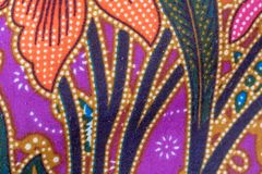 Breit de Thaise naadloze de zijdestof van het zijdepatroon de achtergrond van de patroontextuur Royalty-vrije Stock Afbeeldingen